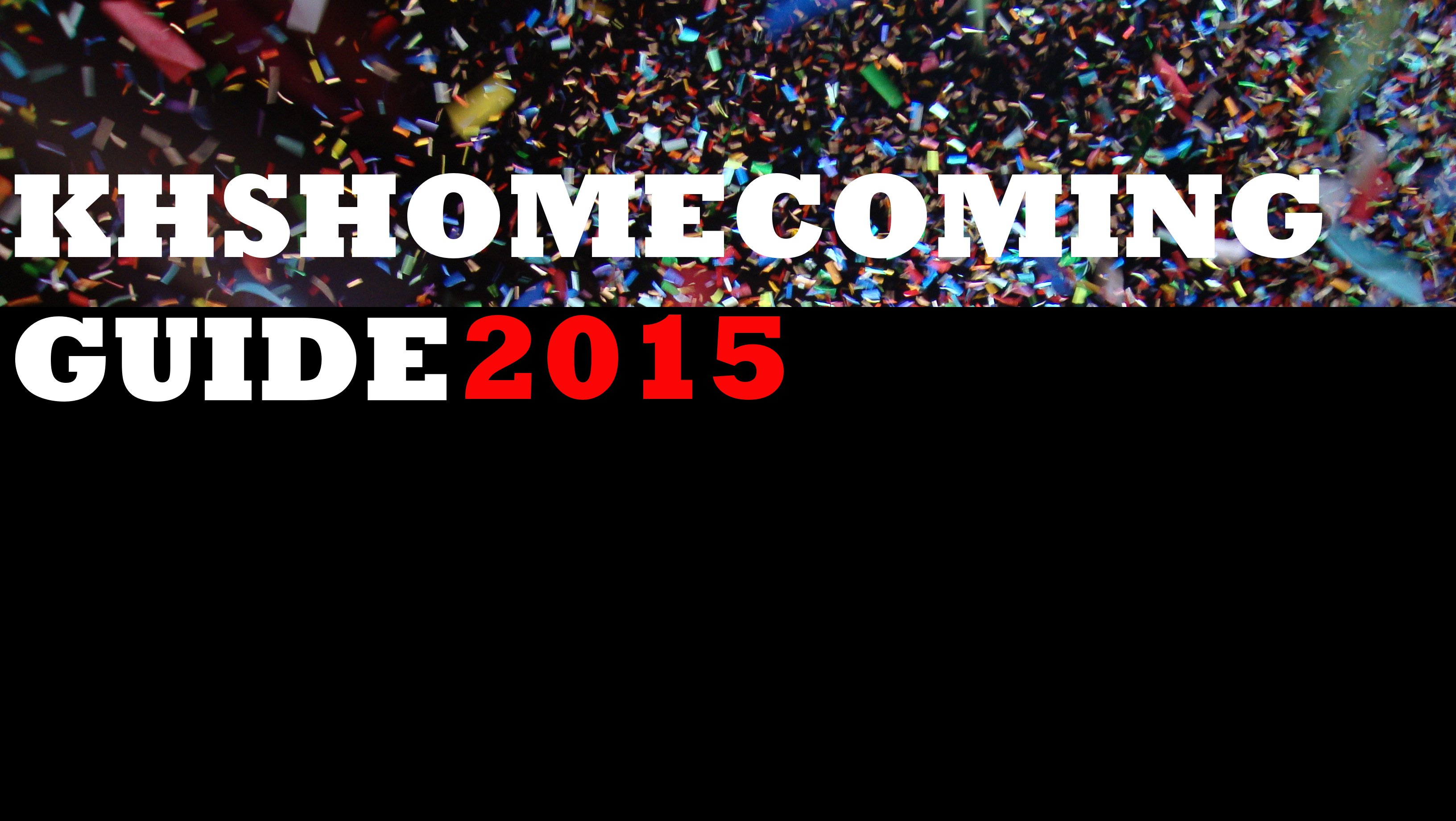 KHS Homecoming 2015 Guide