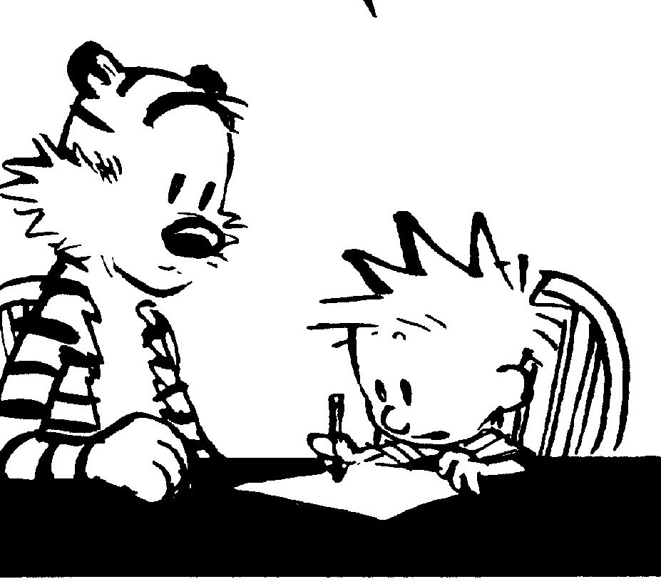calvin and hobbes essay When i was ten, i picked up the days are just packed by bill watterson, my first  calvin and hobbes comic strip anthology the title and the.